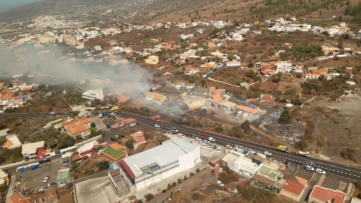 Incendio en el municipio de El Paso.