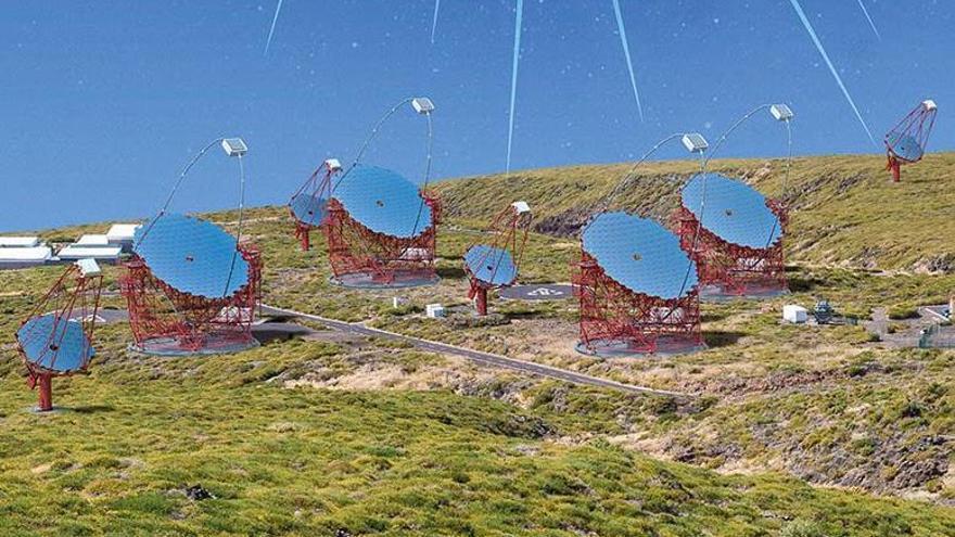 Recreación de la Red de Telescopios Cherenkov.