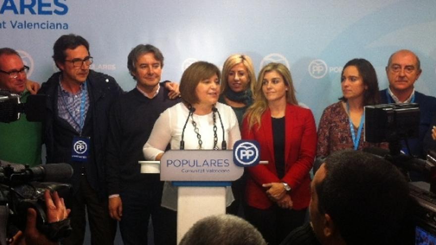 Isabel Bonig, líder del PP valenciano, tras las elecciones generales.