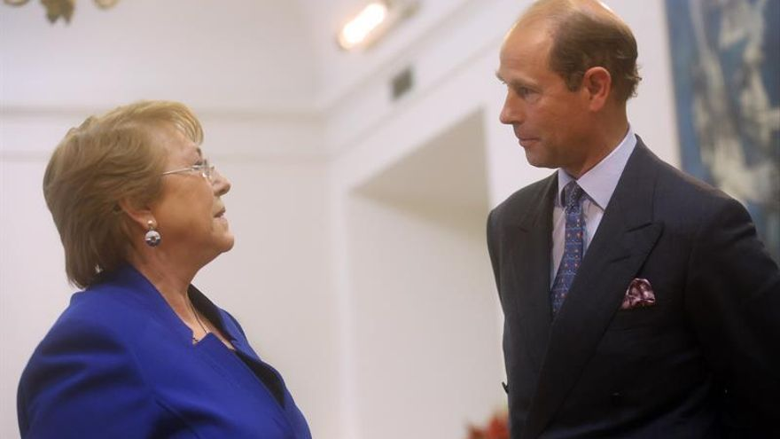 La presidenta Michelle Bachelet recibe al príncipe Eduardo de Inglaterra