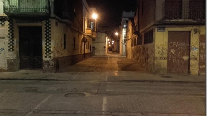 Una calle de la 'zona 0' sin suciedad y sin jaleo nocturno