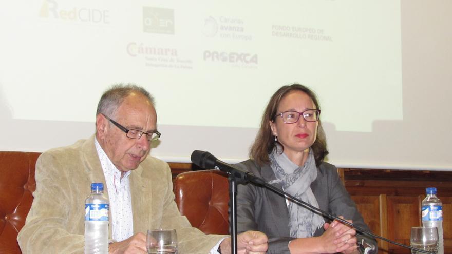 Mauro Fernández y Cristina Hernández este miércoles.