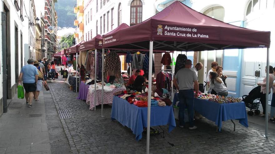 Imagen del Mercadillo de Santa Cruz de La Palma.