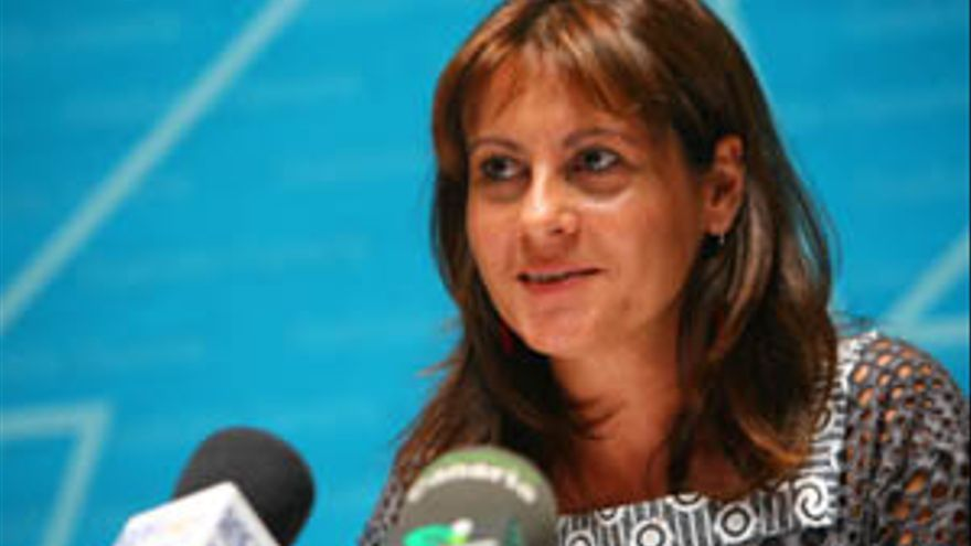 La presidenta de Coalición Canaria, Claudina Morales.