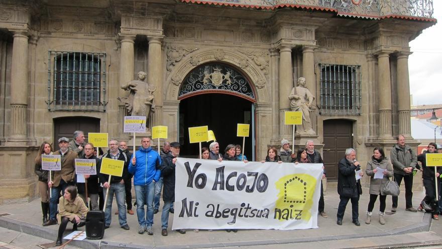 Amnistía Internacional reclama en Pamplona el cumplimiento de los compromisos de acogida de refugiados