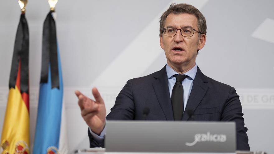 El presidente de la Xunta, Alberto Núñez Feijóo, ofrece una rueda de prensa en la que ha confirmado que las elecciones gallegas se celebrarán el próximo 12 de julio