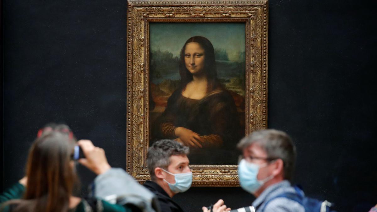 La Mona Lisa del Louvre en junio de 2021.