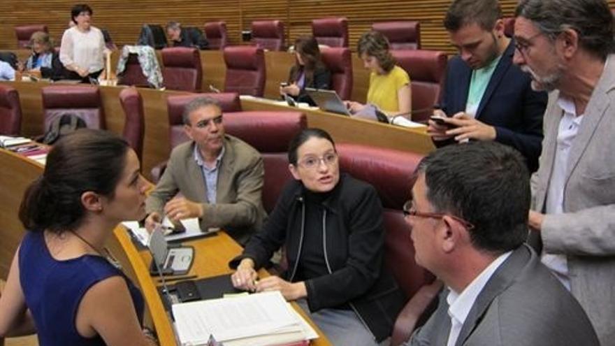 Oltra recurre ante el Constitucional su expulsión del pleno de las Cortes valencianas y la sanción impuesta por el PP