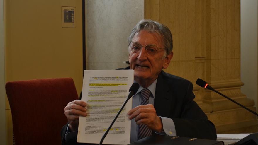 Fulgencio Alcaraz, en su comparecencia ante la Comisión de Investigación   N.C.