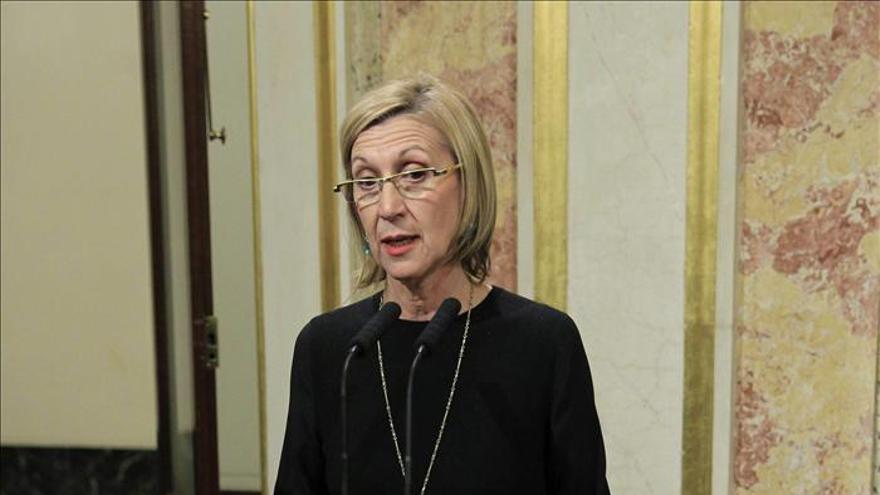 """Rosa Díez tacha de """"vergüenza"""" el reparto del CGPJ y ataca a Rajoy por mentir"""