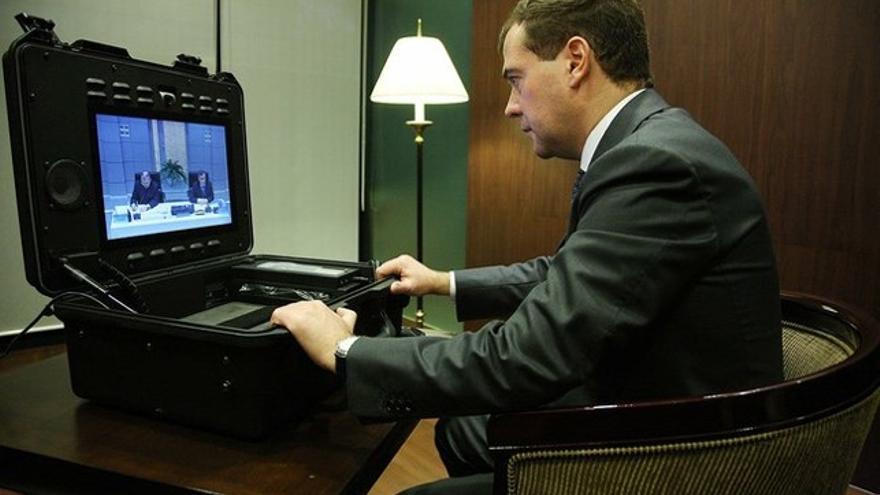 El presidente Medvédev también teletrabaja a veces. Foto: Kremlin.ru