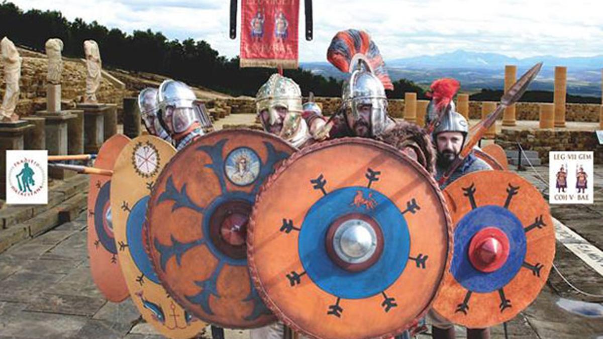 Recreación de legiones en Torreparedones.