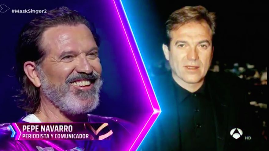 Pepe Navarro al quitarse el disfraz de 'Mask Singer'