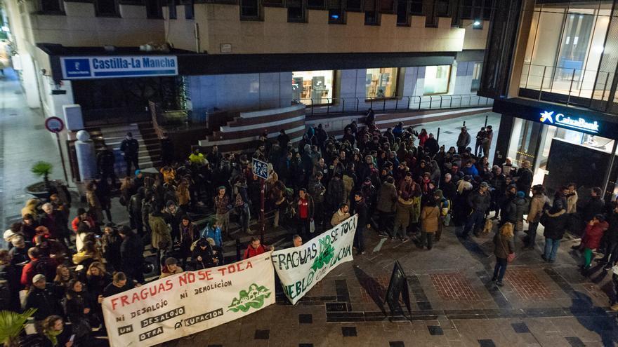 Colectivos de apoyo a los jóvenes de Fraguas salen a la calle para rechazar la confirmación de su pena de cárcel