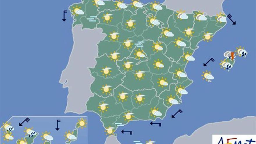 La semana arranca con tormentas localmente fuertes en Baleares