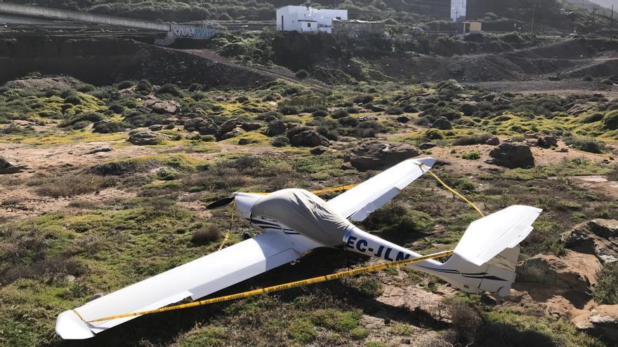 Avioneta accidentada en la costa de Moya