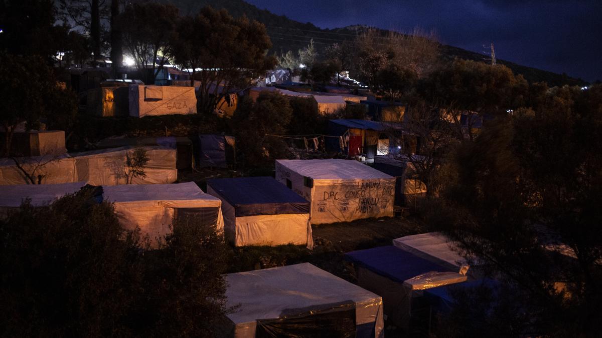 El campo de refugiados de Samos, Grecia.