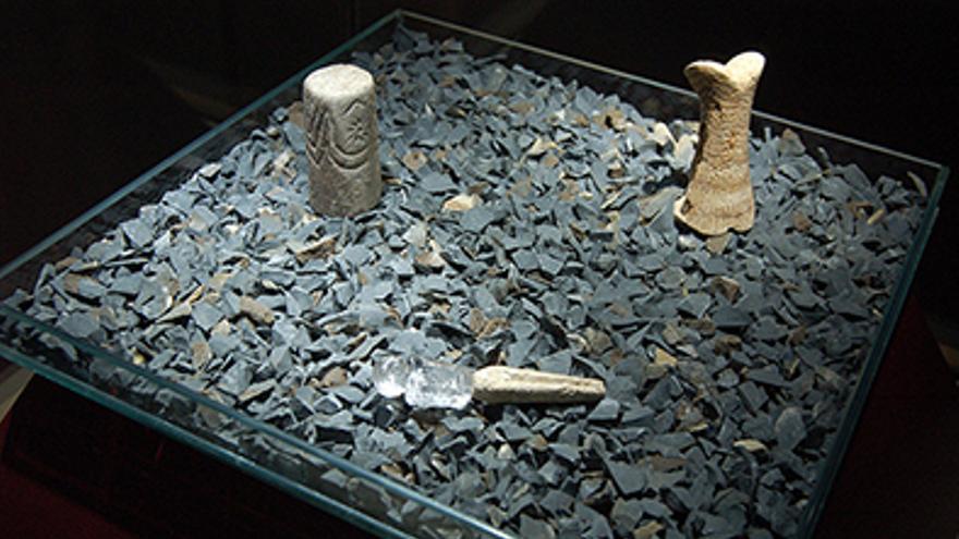 Objetos recuperados del yacimiento prehistórico aljarafeño.   AYUNTAMIENTO DE VALENCINA DE LA CONCEPCIÓN