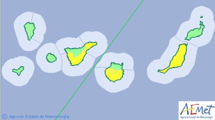 Meteorología rebaja a amarillo el aviso por calor en Canarias