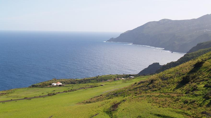Panorámica de la costa de la zona de Juan Adalid del municipio de Garafía.