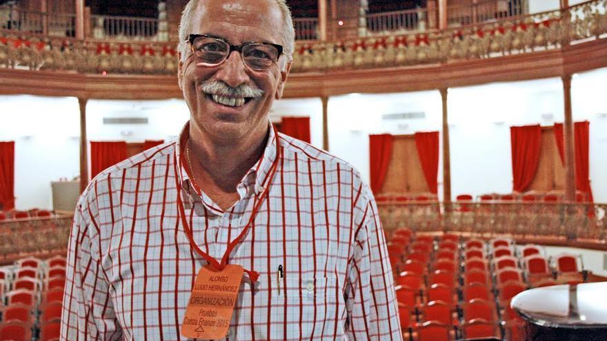 Alonso Lugo, este domingo, en las pruebas de selección de los danzantes.