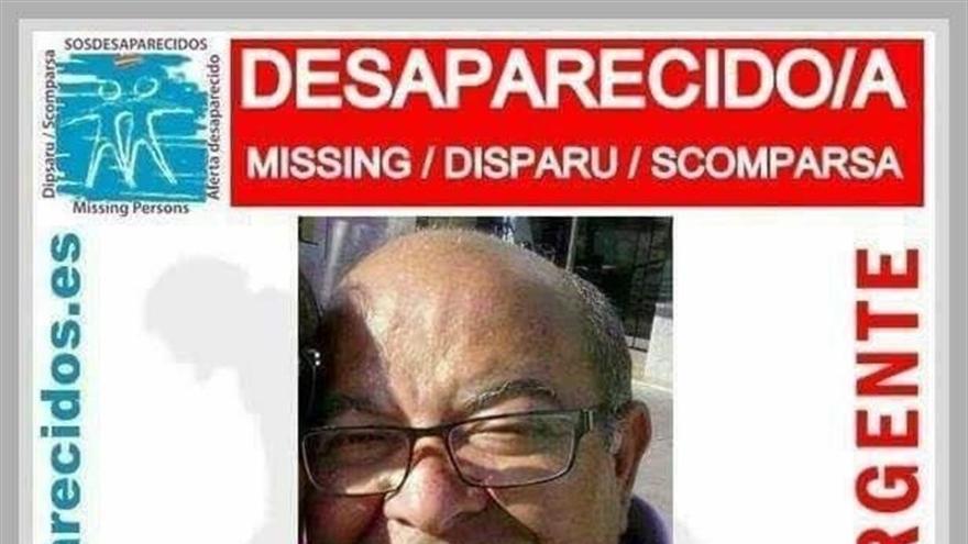 Cartel difundido para encontrar a Antonio Díaz Pezcoso