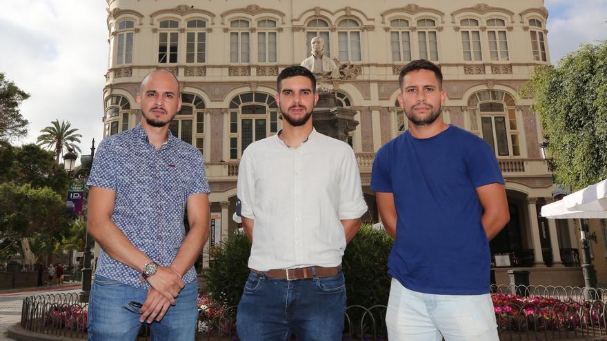 (Izq a derec) Fernando Batista, Rumén Sosa y Jusay Mahamud. (ALEJANDRO RAMOS)