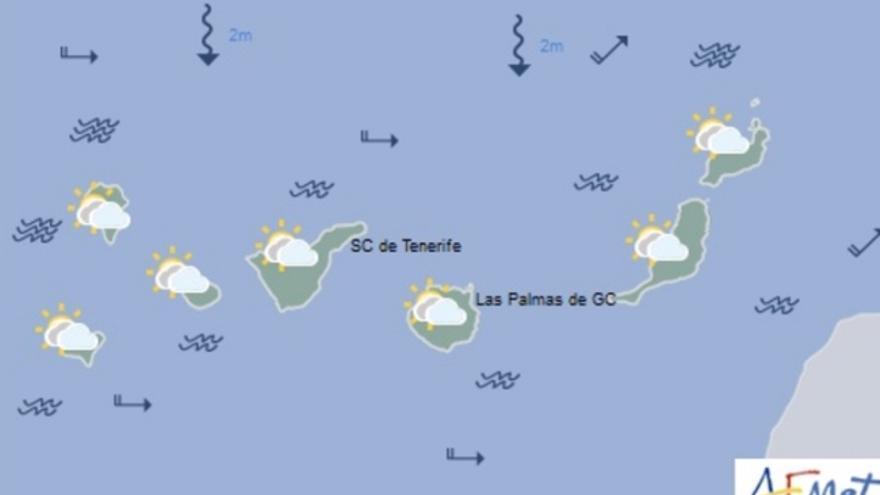 Mapa de la previsión meteorológica para el viernes 25 de noviembre