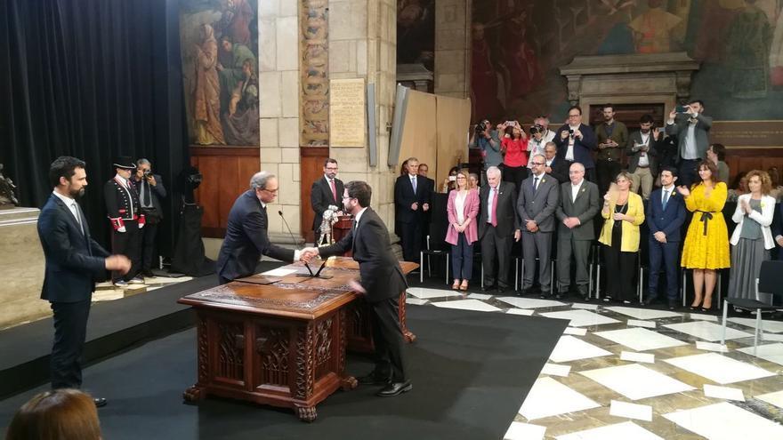 Toma de posesión del Govern de la Generalitat.