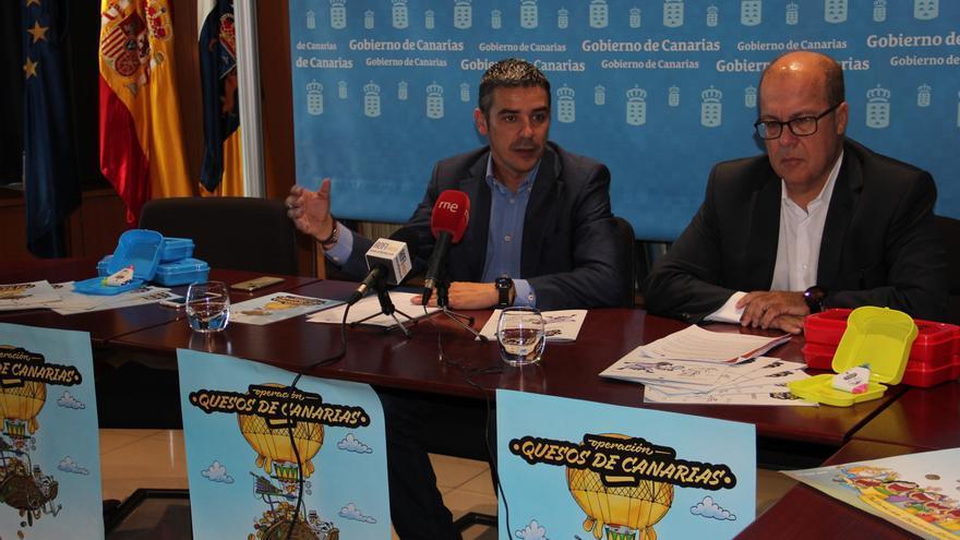 Narvay Quintero y Juan Antonio Alonso, en la rueda de prensa de este jueves