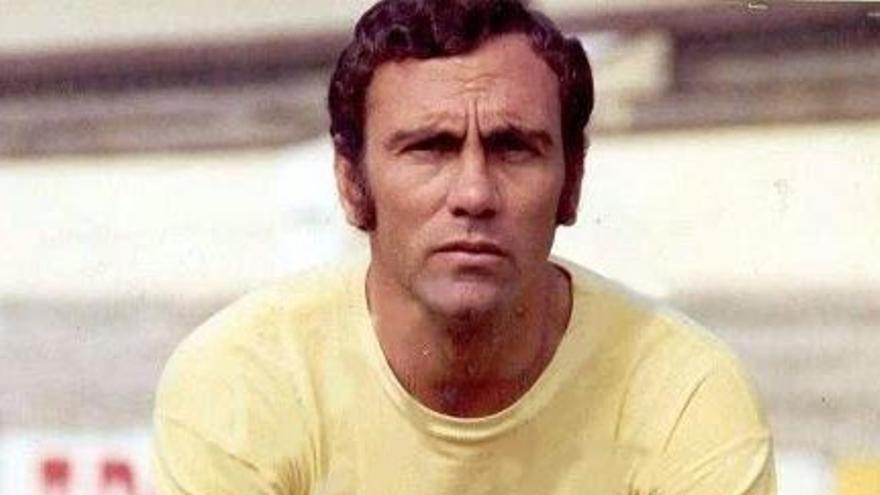 El jugador de la UD Las Palmas, Germán Débora.