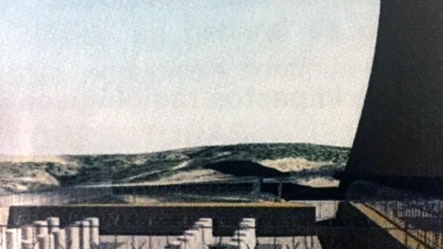 Proyección de la ubicación de la ATI de la central nuclear de Cofrentes