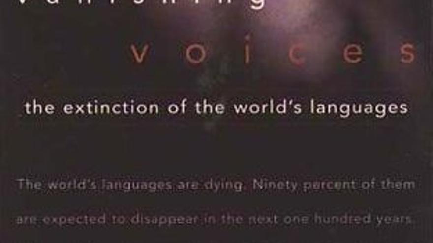 Parte del cartel de 'Vanishing voices'.