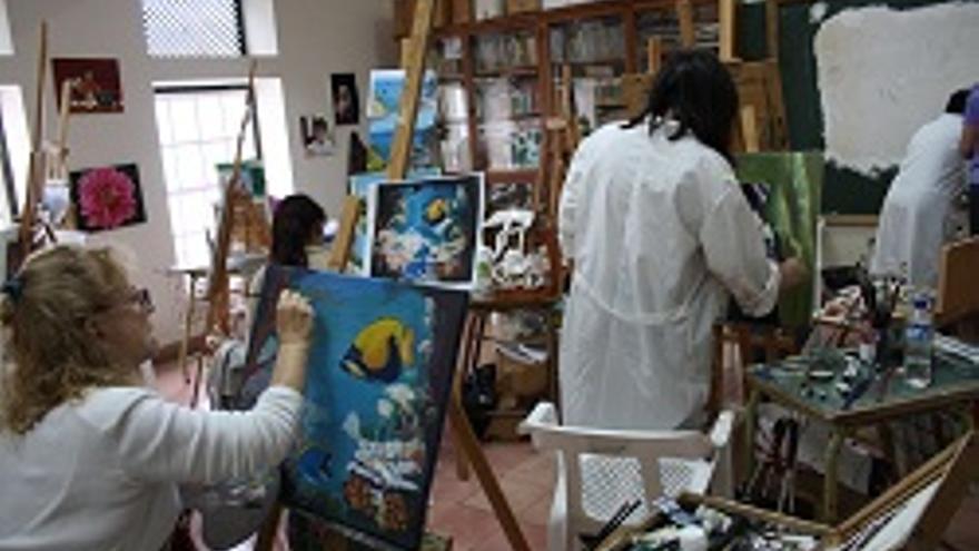 Curso de pintura en la capital.