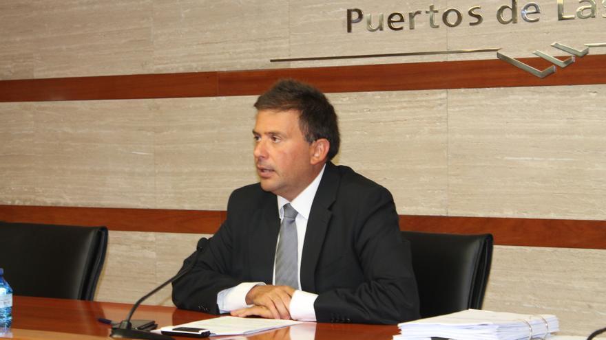 Luis Ibarra, presidente de la Autoridad Portuaria de Las Palmas. Foto: Acoidán Díaz.