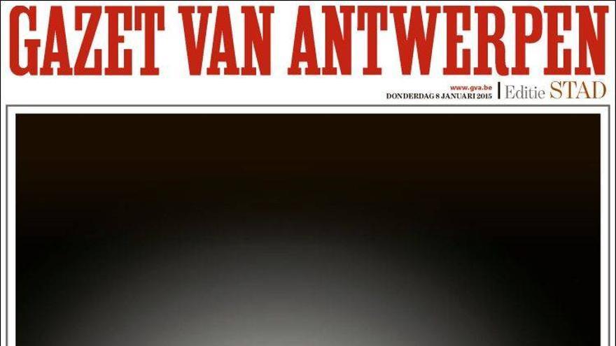 'Yo soy Charlie' - Gazet Van Antwerpen (Bélgica)