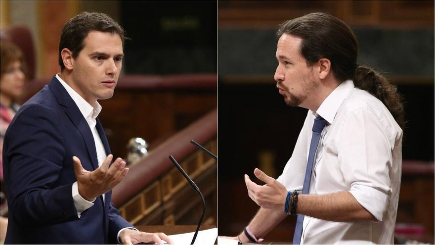 Albert Rivera, líder de Ciudadadanos, y Pablo Iglesias, líder de Podemos.