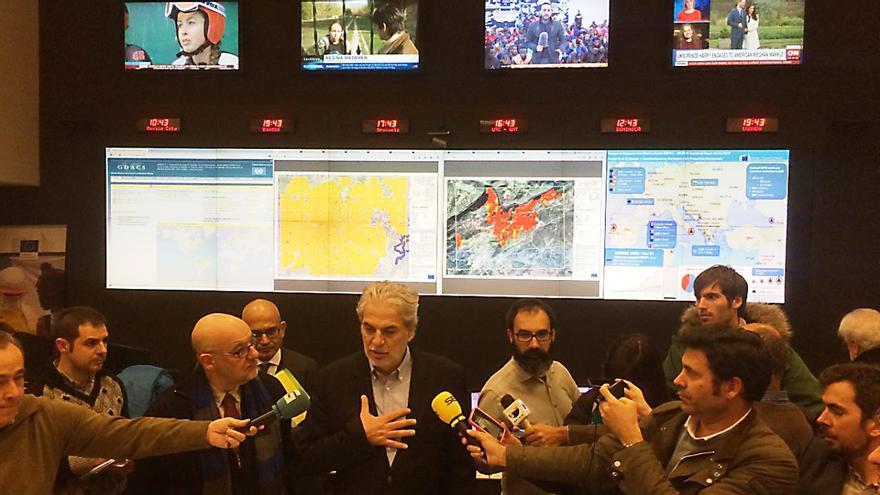 El comisario de Gestión de Crisis, Christos Stylianides, en el Centro de Coordinación de Emergencias de Bruselas