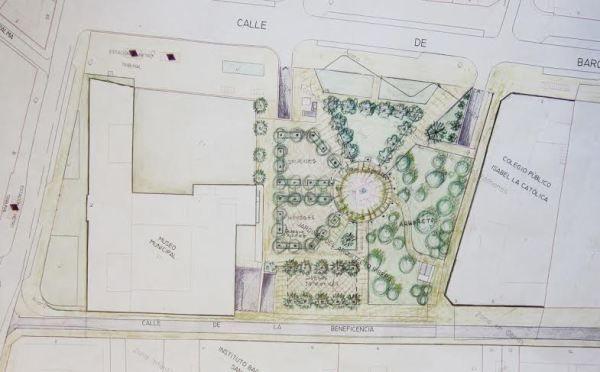 Boceto de uno de los proyectos elaborados por el Ayuntamiento