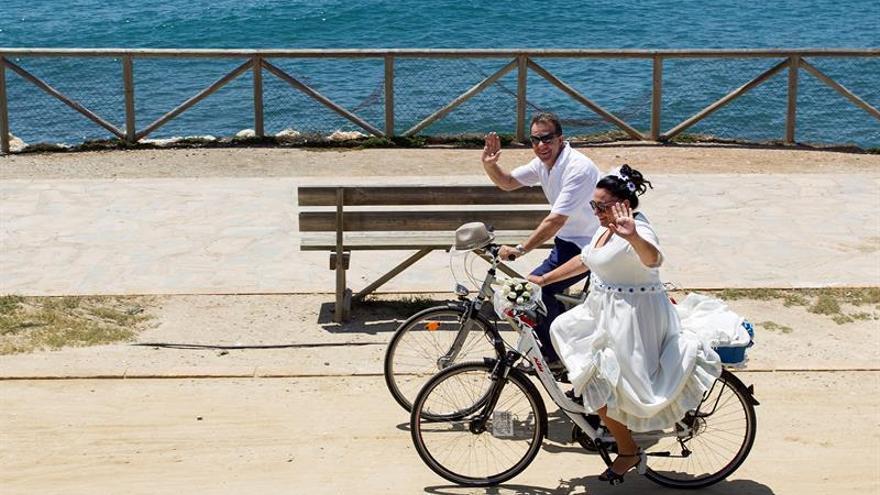 Una boda en bicicleta