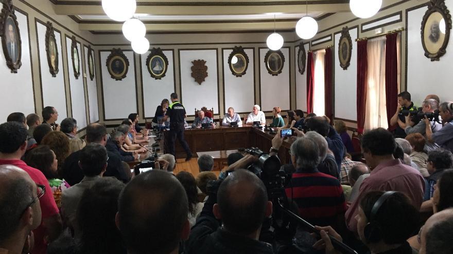 El Pleno de Andoain durante la constitución del Ayuntamiento