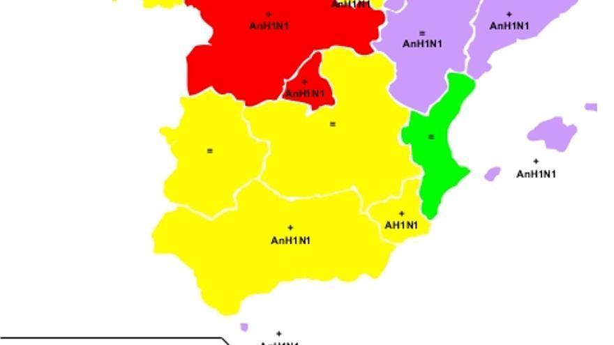 Cuadro de gripe en España