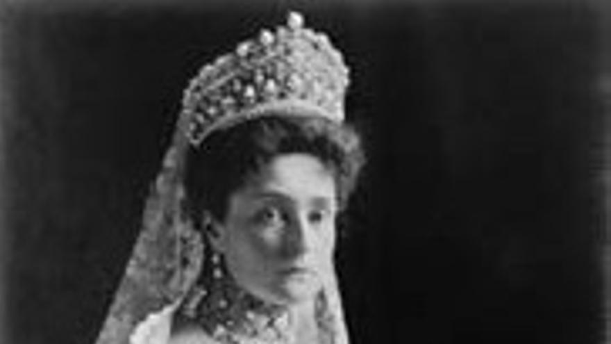 La última zarina de Rusia, Alejandra Feodorovna.