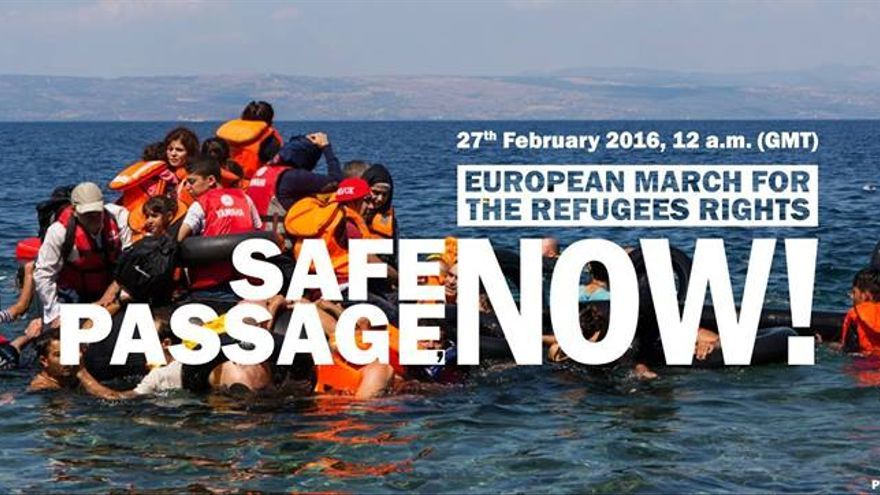 European March Refugees Rights 27 F