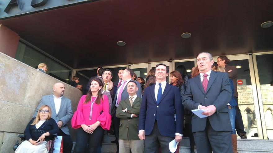 Jueces y fiscales en la lectura del manifiesto en Toledo