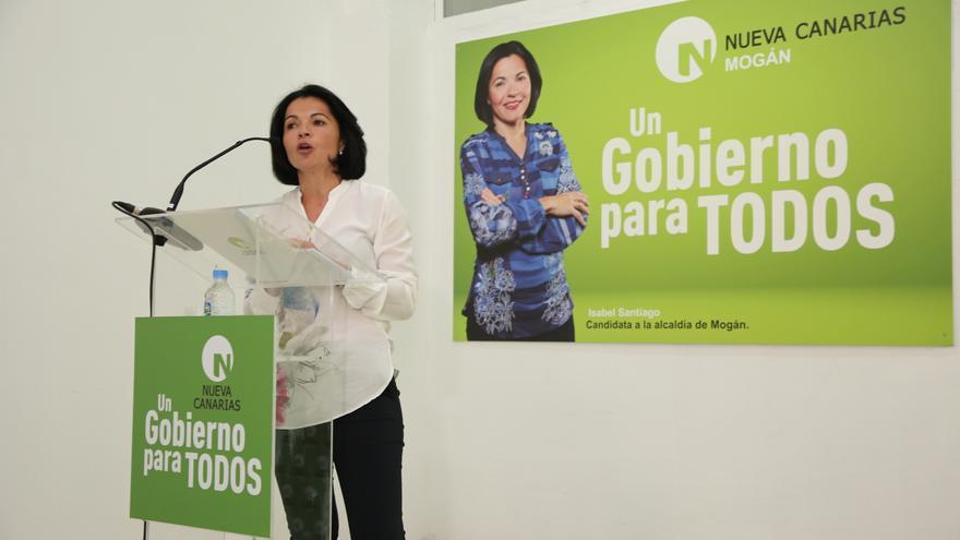 La candidata de Nueva Canarias a la alcaldía de Mogán, Isabel Santiago.