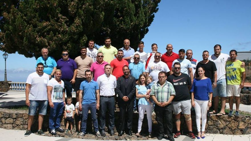 Presentación del Club de Lucha Canaria de Tijarafe.