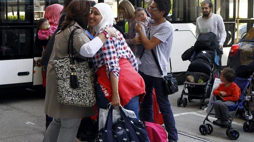 Refugiados llegados el pasado 1 de junio a Madrid.