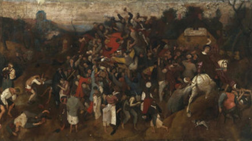 'El vino en la fiesta de San Martín' de Bruegel el viejo