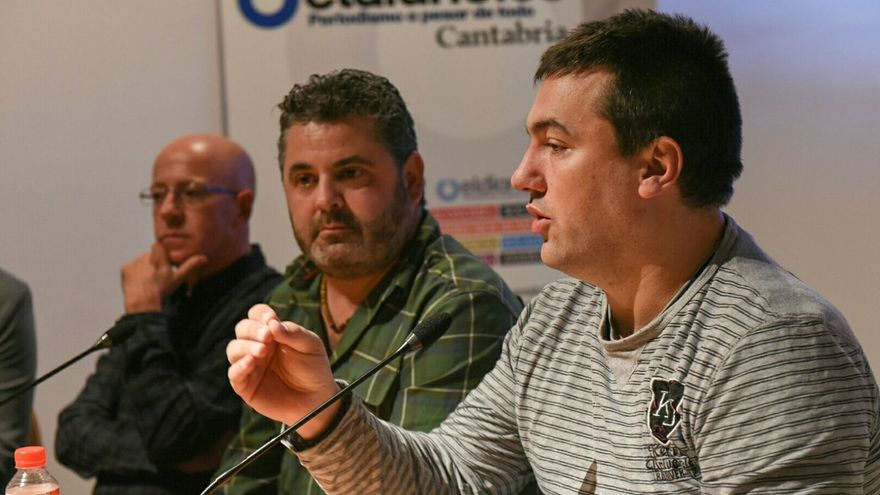 Juan Manuel Serrano, Antonio Aragón y Esteban Cobo. | JAVO DÍAZ VILLÁN